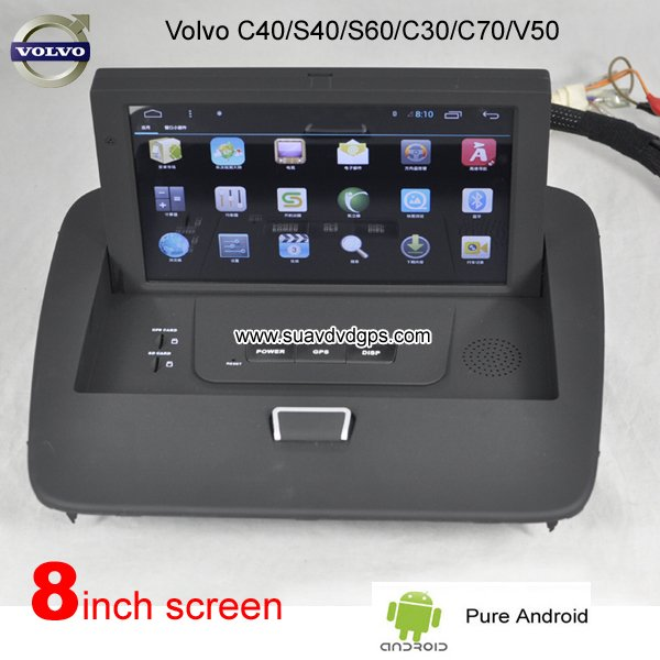 pure android gps volvo car dvd player gps navigation. Black Bedroom Furniture Sets. Home Design Ideas