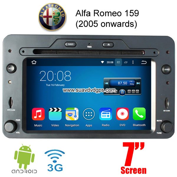 alfa romeo 159 android car radio wifi 3g dvd player multimedia gps navigation car dvd player gps. Black Bedroom Furniture Sets. Home Design Ideas