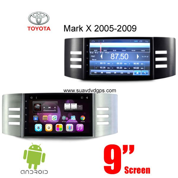 Toyota Mark X Car radio GPS android Wifi navigation stereo