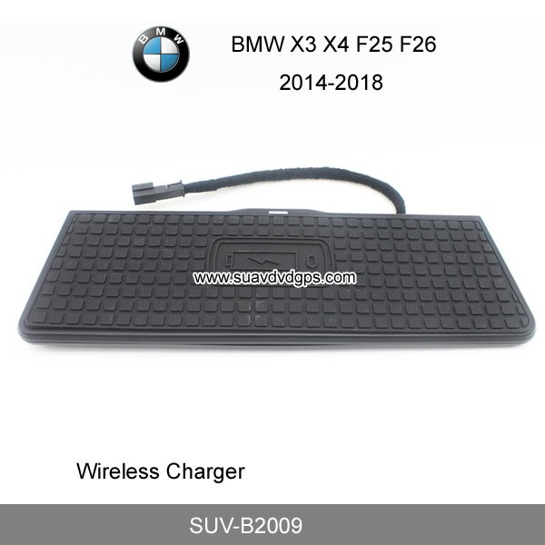 sports shoes 5655a 82d57 BMW X3 X4 F25 F26 car mount QI wireless charger quick charge fast ...